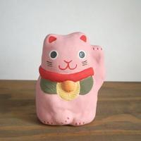 招き猫 桃 Beckoning cat pink