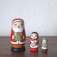マトリョーシカ3個組(サンタの贈り物)