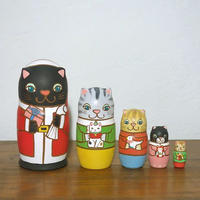 MATRYOSHKA 5sets 猫サンタからの贈り物   Cat Santa's gift