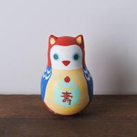 赤みみずくおきあがりこぼし Rory Poly Doll of Owl