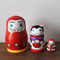MATRYOSHKA 3sets だるまと犬張子  Daruma and Inuhariko