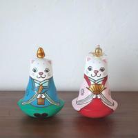 猫雛人形 おきあがりこぼし Cat Hina Doll  Roly-poly