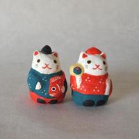 ミニ恵比寿猫 Mini Ebisu cat/ミニ大黒猫  Mini Daikoku cat