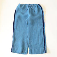 dosa pants w/velvet ribbon-denim-