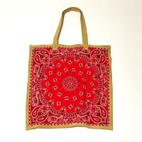RTH SIMPLE TOTE - BANDANA - RED W/ NATURAL ROUGHOUT TRIM
