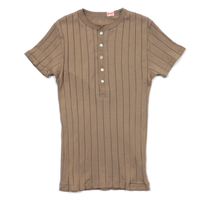 YOUNG&OLSEN BROAD RIB HENLEY NECK
