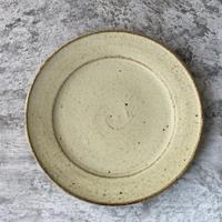【佐藤敬】黄粉引 8寸リム皿