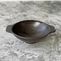 【庄司理恵】黒 耳付き小鉢