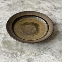 【北側雄一】窯変黒釉六寸リム皿