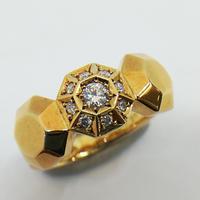 ゴールド ダイアモンド リング