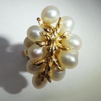 ゴールド 真珠 リング