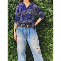 Vintage Bandanna Pattern Pullover Shirt