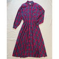 MADRAS CHECK LONG SHIRT DRESS