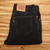 Levi's 505 Black Denim Pants MADE IN USA