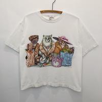 90's  Cats  Print  Tee