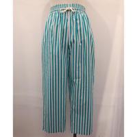 90's  Stripe pattern easy pants