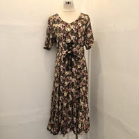 Lace up Ribbon Flower Dress