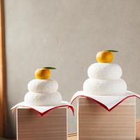 木彫りの鏡餅(小)