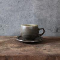しずく窯 / 高山 マグカップ(黒・丸)
