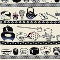 戸田屋商店・梨園染手ぬぐい              「茶道具」