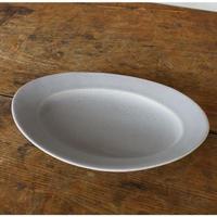 Awabiware オーバル皿M  グレー