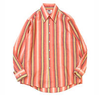 70's MONTGOMERY WARD STRIPED SHIRT size L程