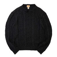 80's BANANA REPUBLIC BLACK KNIT(LINEN×COTTON) size XL