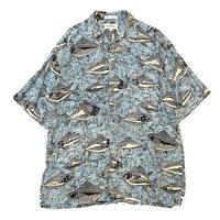 🎣RAYON FISH SHIRT size L