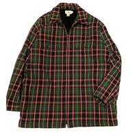 jcrew check shirt jacket size M