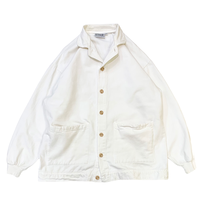 COTTON WHITE JACKET MADE IN USA🇺🇸size L程