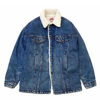 80's Levi's Denim Boa Jacket (Long) size L