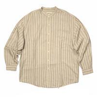 Eddie Bauer Stand up collar Linen×Cotton Shirt Size-L
