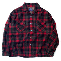 NORSEMAN OPEN COLLERD WOOL SHIRT MADE IN JAPAN size L