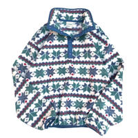 L.L.Bean Snap-T Pullover  size WOMENS M