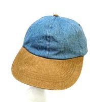 DENIM×LEATHER 2TONE CAP