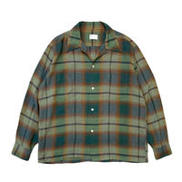 60's TOWNCRAFT OMBRE CHECK RAYON SHIRT size L