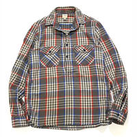 LANDS'END PULLOVER HEAVY NEL SHIRT size M