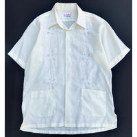 HAND EMBROIDERED FLOWER SHIRT size L