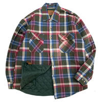 ST JOHNS BAY QUILTING LINER CHECK SHIRT size L