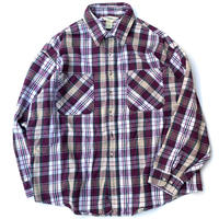 ST JOHNS'BAY CHECK HEAVY NEL SHIRT MADE IN USA size XXL
