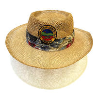 COUNTRY CLUB STRAW HAT MADE IN USA size L