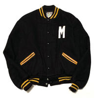 WOOL MELTON VARSITY JACKET  MADE IN USA size M