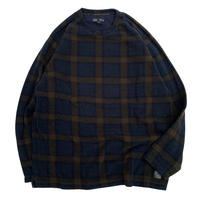 CHECK FLEECE PULL OVER sizeXL