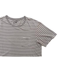 """""""anchor blue"""" Pocket Striped Tee Size-L"""