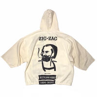 ZIG-ZAG💭  COTTON Hoodie Size-L程 MADE IN USA