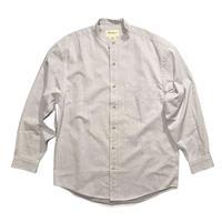 Eddie Bauer Cotton Stand up collar shirt Size-M 実寸L程 90s~