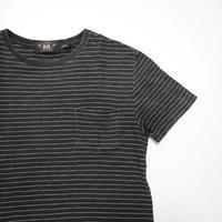RRL striped Pocket T-shirt S Black