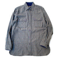 CHECK WOOL SHIRT size L