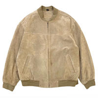 SUEDE LEATHER JACKET (QUILTING LINER ) size XL