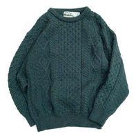 Aran Crafts Ireland Wool Sweater Made in Ireland size L